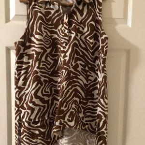 Ellen Tracy leopard print top